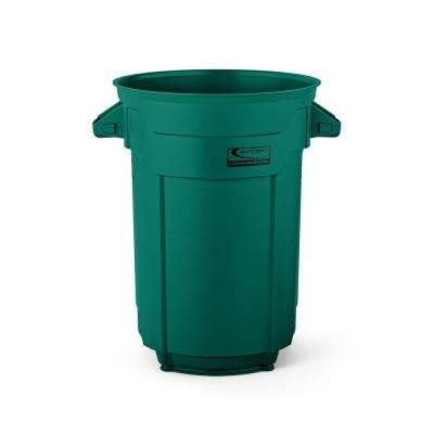 32 Gal. Dark Green Commercial Trash Can