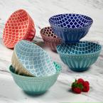 Oxford Multi-color Bowls (Set of 6)