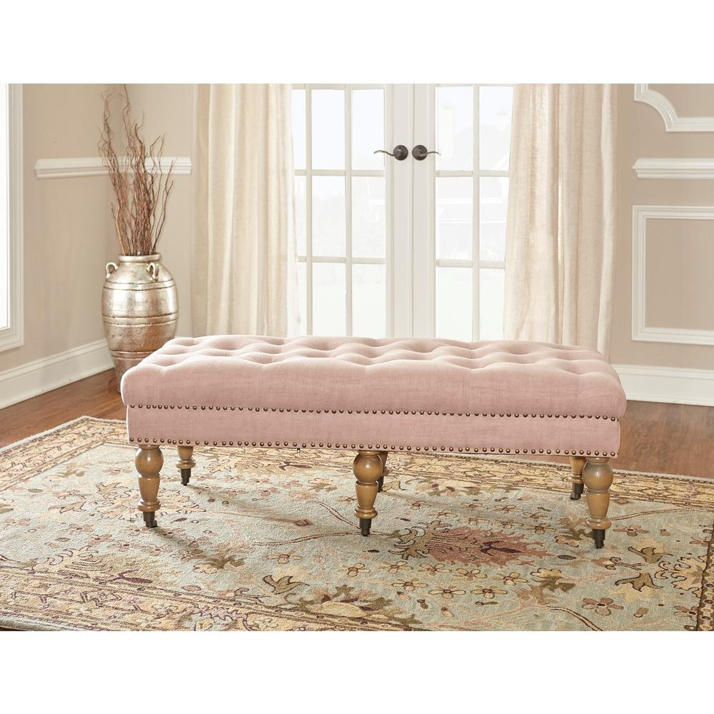 modern benches for bedroom linon home decor isabelle washed pink bench 368253pnk01u 16327