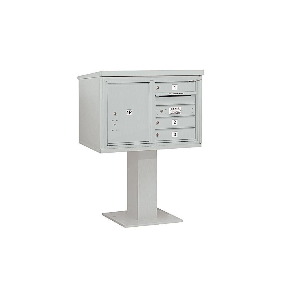 3400 Series 48-1/8 in. 5 Door High Unit Gray 4C Pedestal
