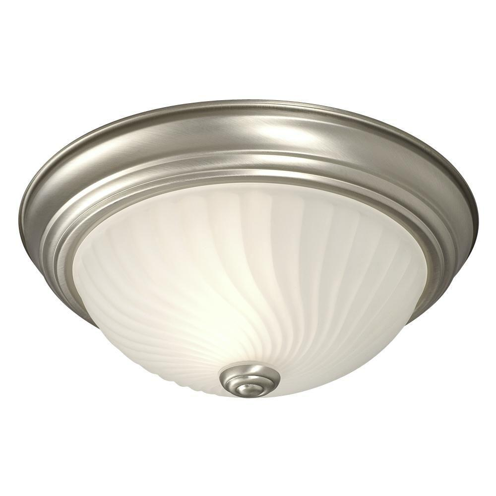 Filament Design Negron 2-Light Pewter Incandescent Flush Mount