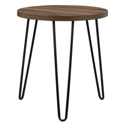 Montrose Walnut Retro Round End Table