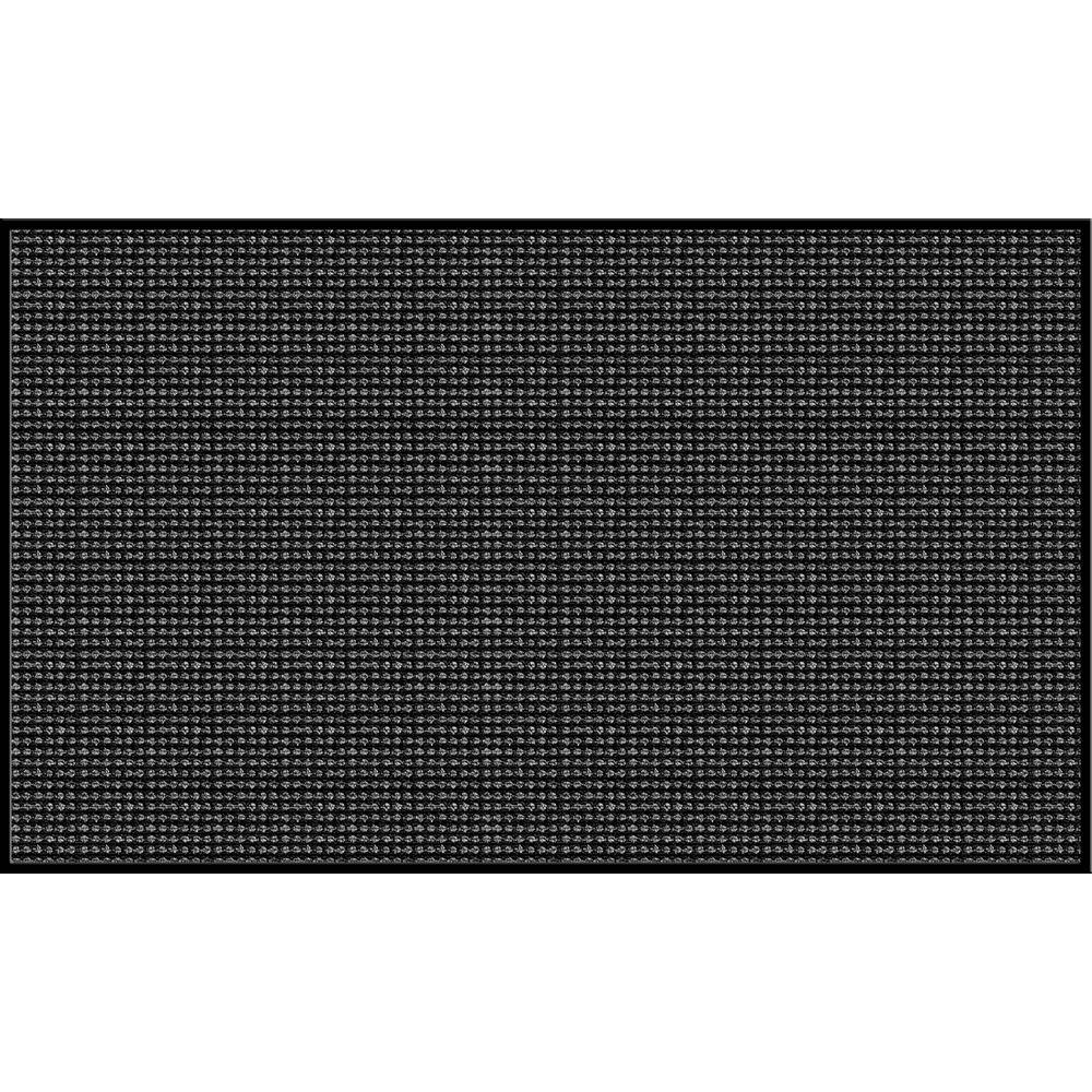 Apache Mills Gray 36 in. x 60 in. Synthetic Fiber and Vinyl Commercial Entry Mat-DISCONTINUED