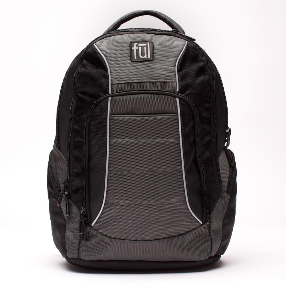 Ace Black/Grey Padded Laptop Backpack Fits Up to 15 in.