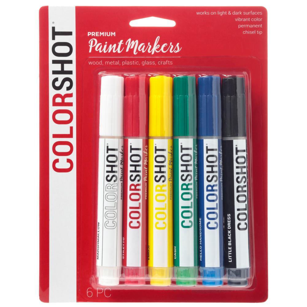 Colorshot Rainbow Acrylic Craft Paint Pen 6 Pack