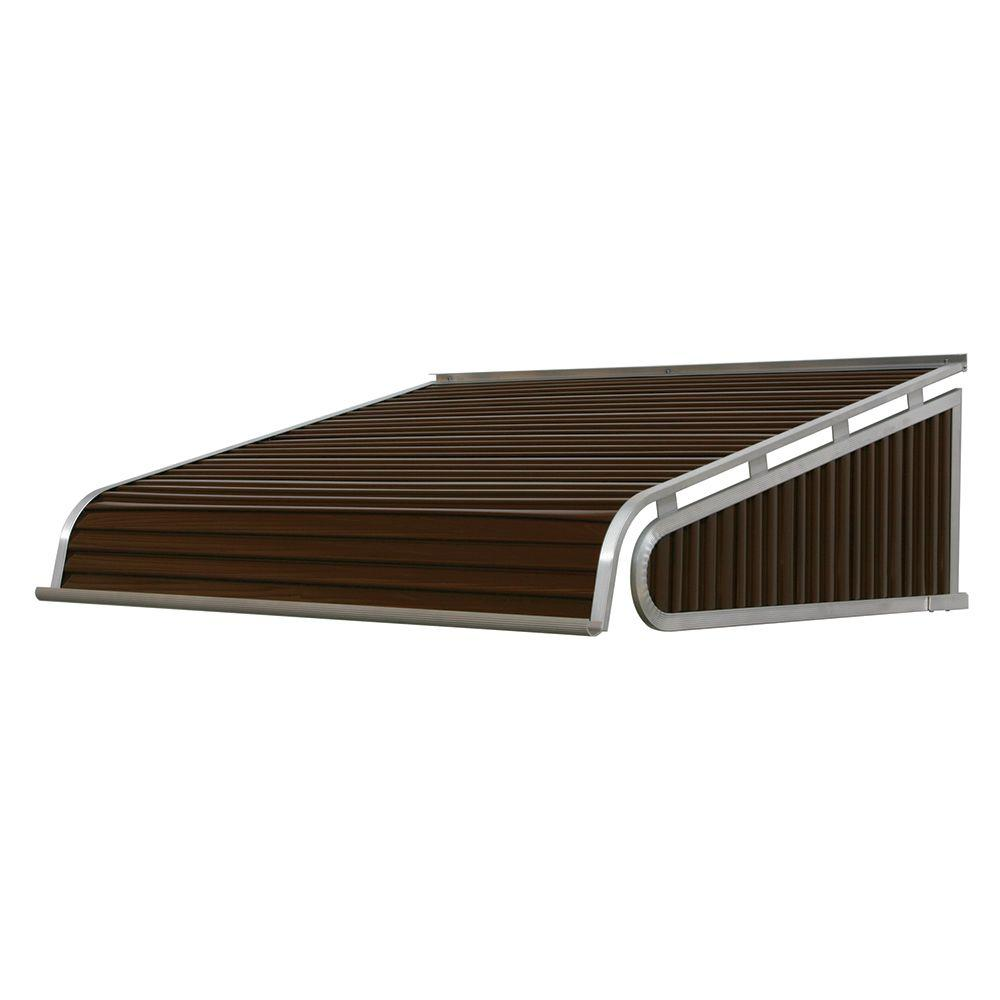 NuImage Awnings 7 ft. 1500 Series Door Canopy Aluminum Awning (12 in. H x 42 in. D) in Brown
