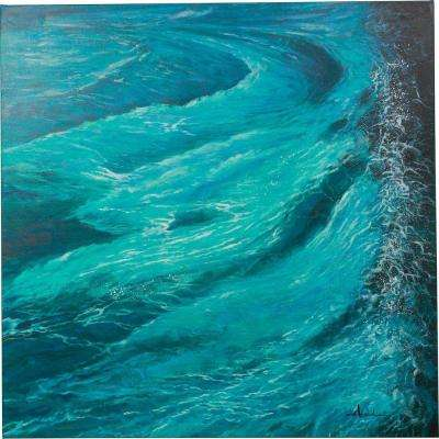 "48 in. x 48 in. ""Enchanting Ways"" Hand Painted Canvas Wall Art"