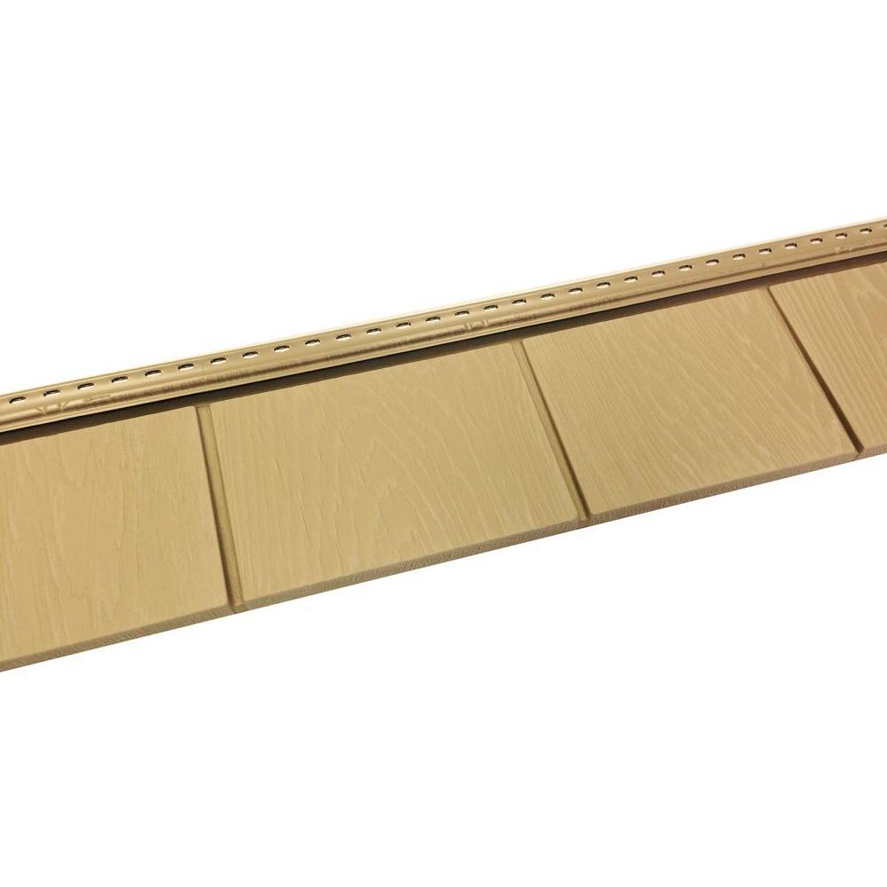 6-1/2 in. x 60-1/2 in. Autumn Shade Engineered Rigid PVC Shingle Panel 5 in. Exposure (24 Per Box)