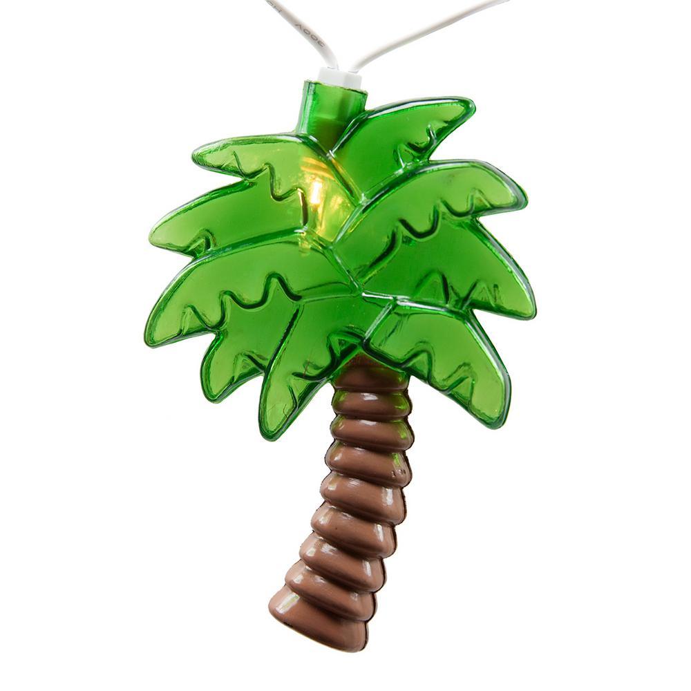9 ft. 10-Light Palm Tree String Light Set