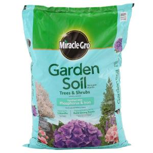 Miracle-Gro 1.5 cu. ft. Garden Soil for Trees and Shrubs-73359430 - The Home Depot