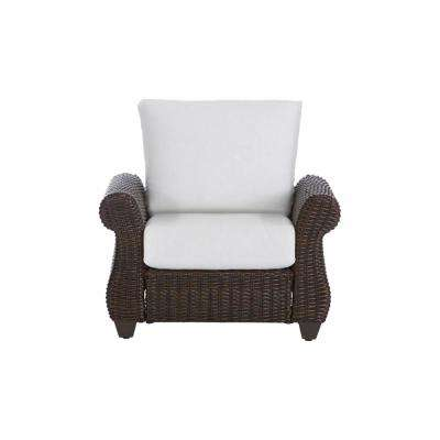 Mill Valley Brown Wicker Outdoor Patio Lounge Chair with Bare Cushions