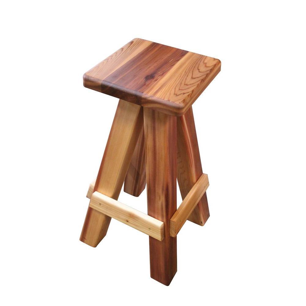 Wood Swivel Patio Bar Stool