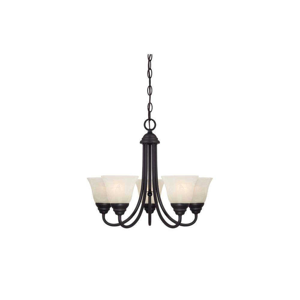 Designers Fountain Kendall 5 Light Oil Rubbed Bronze Chandelier