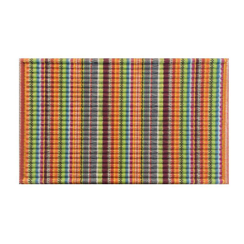 Stripe 18 in. x 30 in. Door Mat