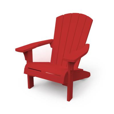 Troy Red Resin Adirondack Chair