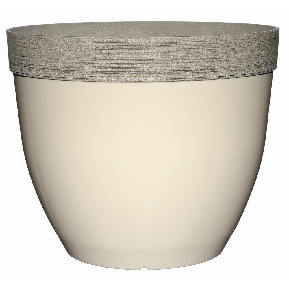 Sanibel 22 inch Lattice White Resin Planter by