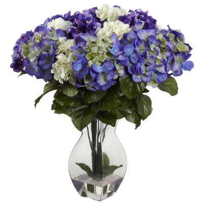 Mixed Hydrangea with Vase