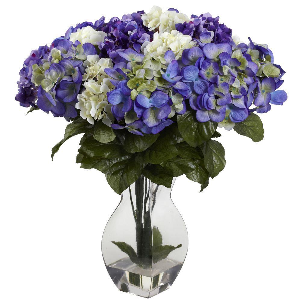 Mixed Hydrangea with Vase