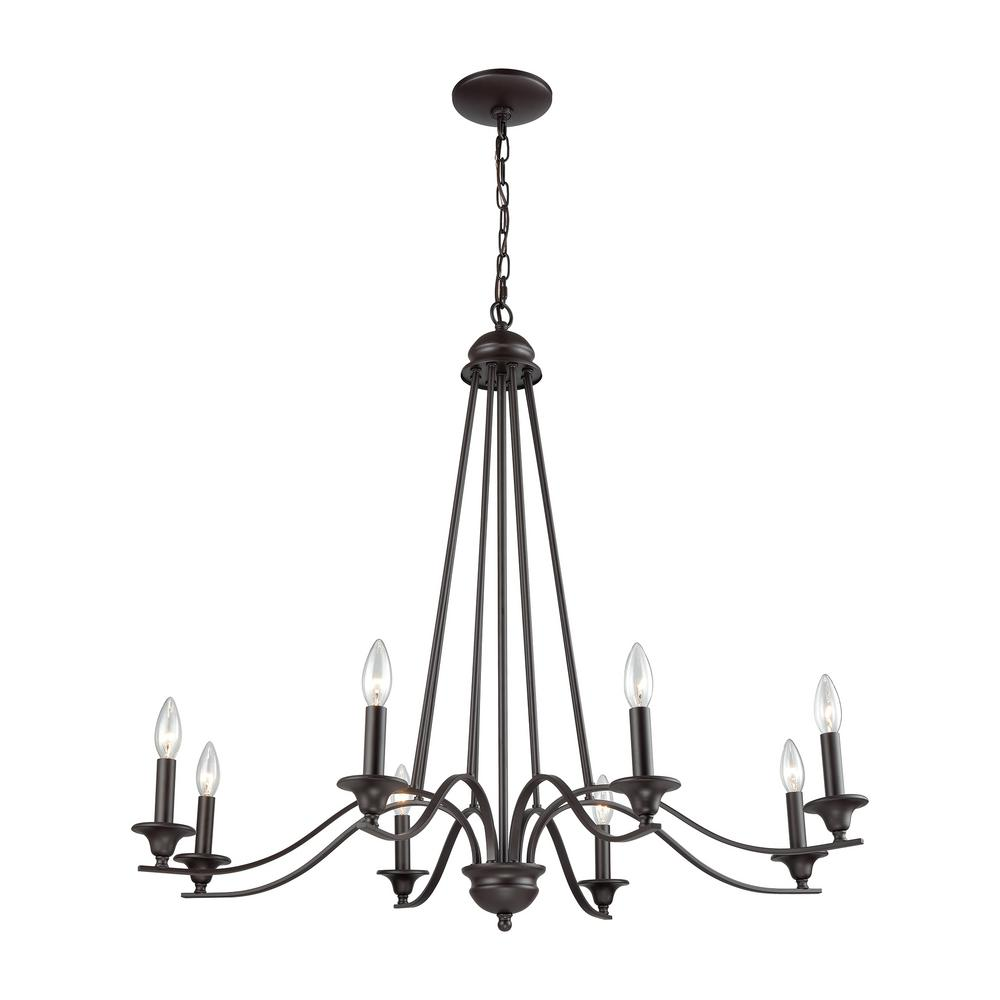 Thomas Lighting Farmington 8 Light Oil Rubbed Bronze Chandelier