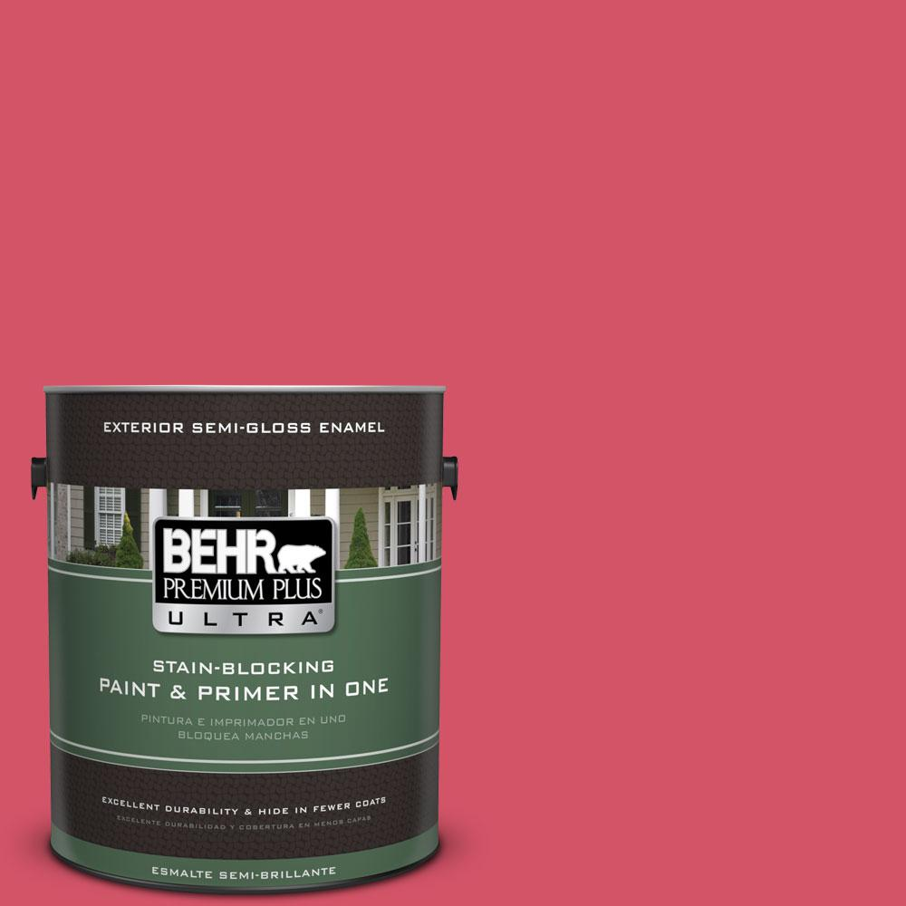 1-gal. #130B-6 Dragon Fruit Semi-Gloss Enamel Exterior Paint