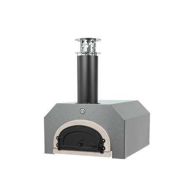 40 in. x 35-1/2 in. Counter Top Wood Burning Pizza Oven by Chicago Brick Oven in Silver
