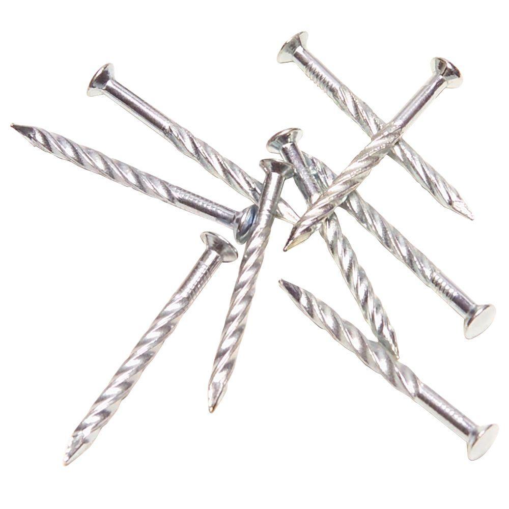 trafficmaster 1-1  4 in  silver carbon steel floor screw nails-18552