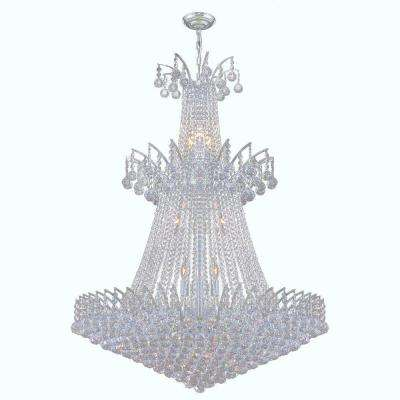 Empire Collection 18-Light Polished Chrome Crystal Chandelier