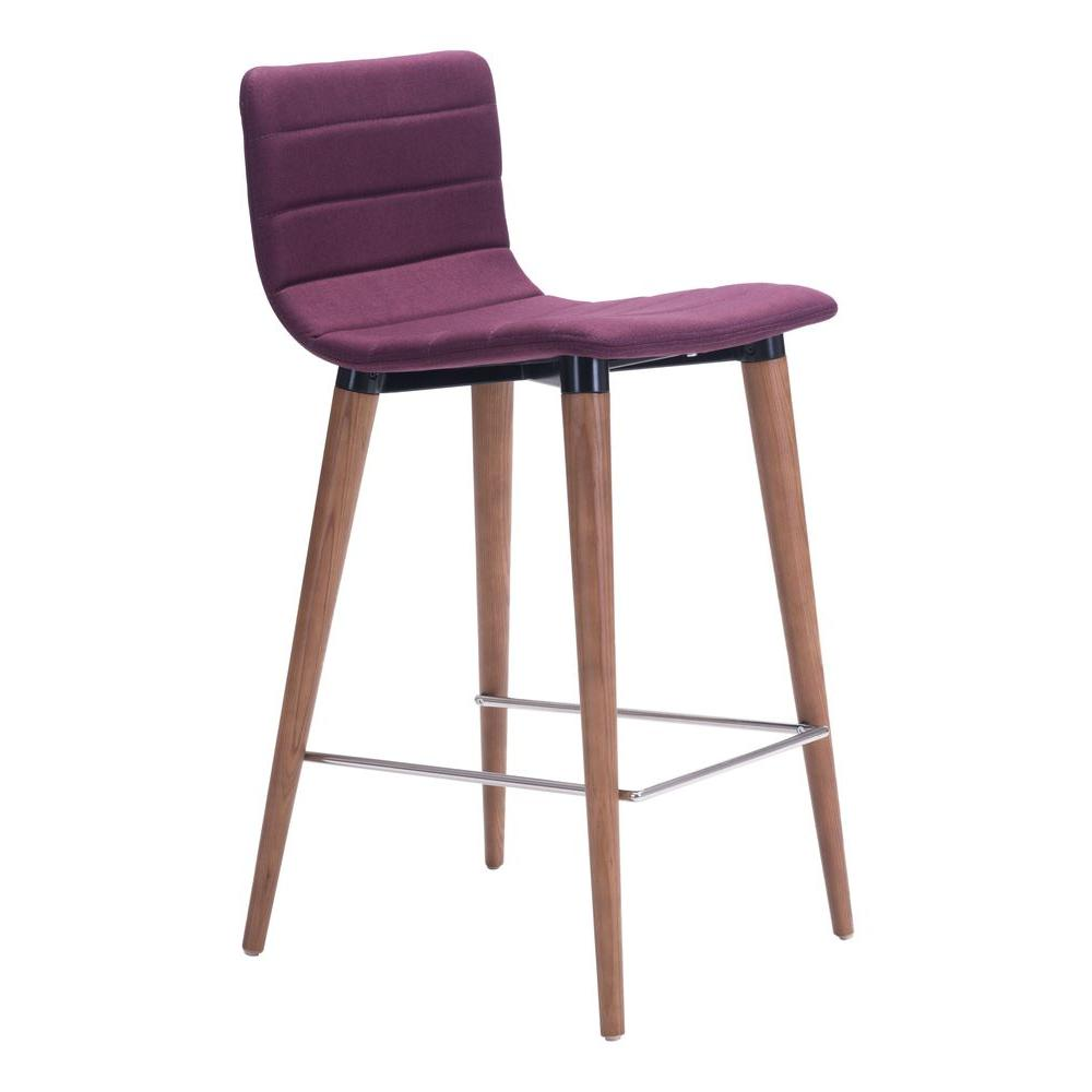 Purple Cushioned Bar Stool 100273 The Home Depot