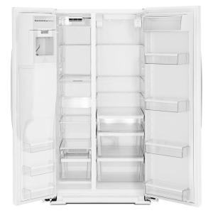 whirlpool side by side refrigerator white. +6. whirlpool 20.6 cu. ft. side by refrigerator in white c