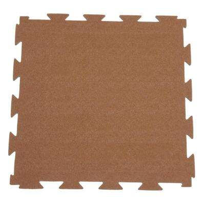 Terra-Flex 1/4 in. x 24 in. x 24 in. Chocolate Interlocking Rubber Mat (5-Pack, 20 sq. ft.)