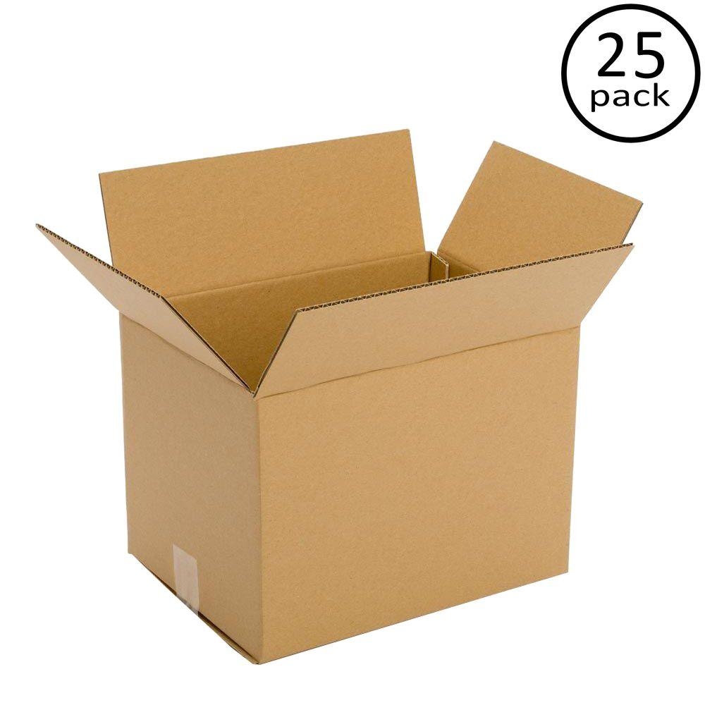 Plain Brown Box 12 in. x 10 in. x 10 in. 25 Moving Box Bundle