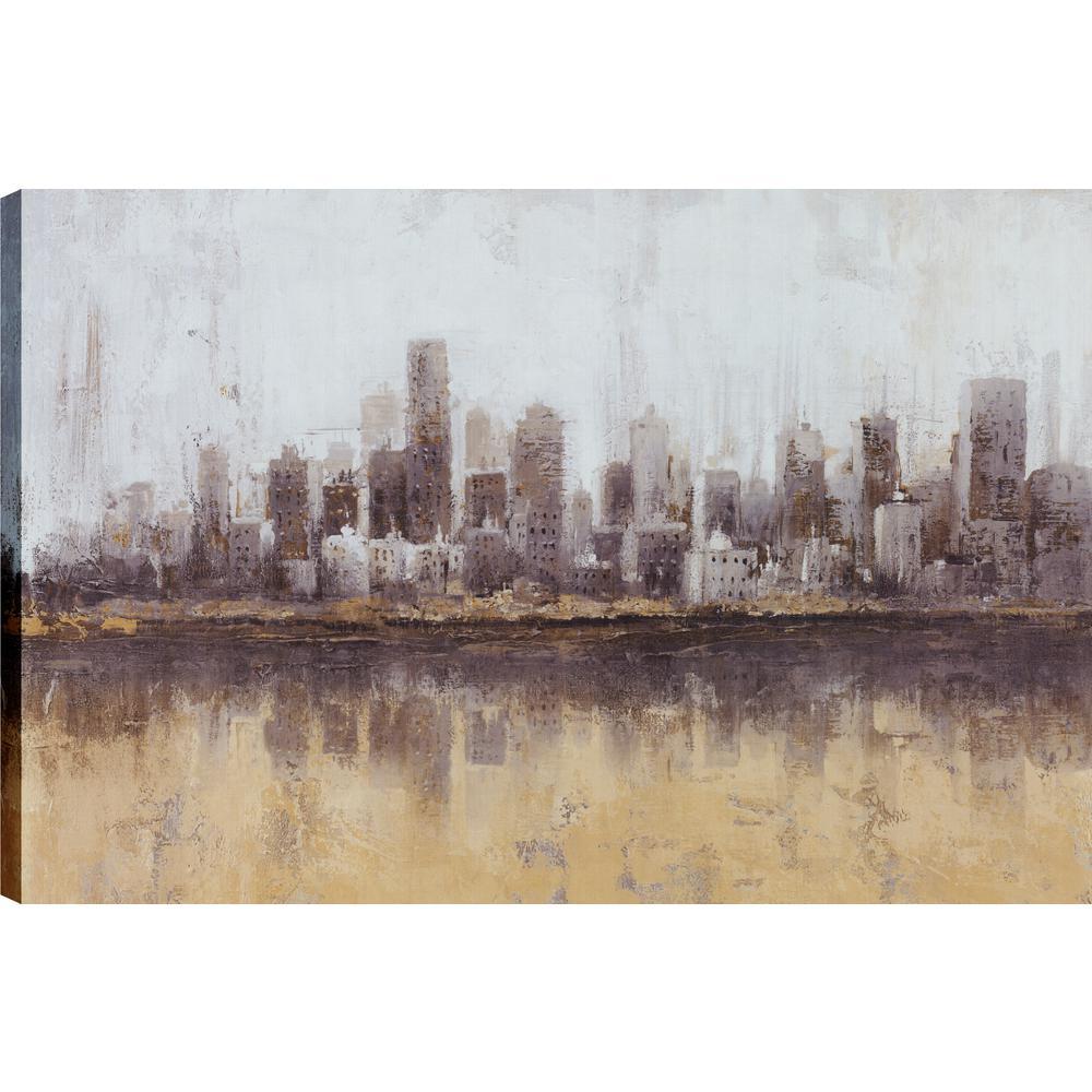Landscape Dust II, Landscape Art, Canvas Print Wall Art Dcor 24X36 Ready to hang by ArtMaison.ca