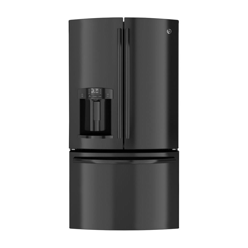 GE 27.7 cu. ft. French Door Refrigerator in Black