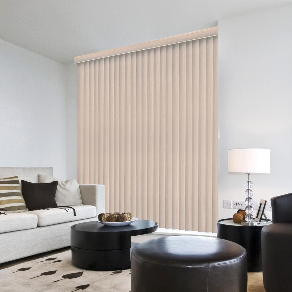 Embossed Room Darkening Louver Set for 3-1/2 in. Vertical Blind - 9 Pack