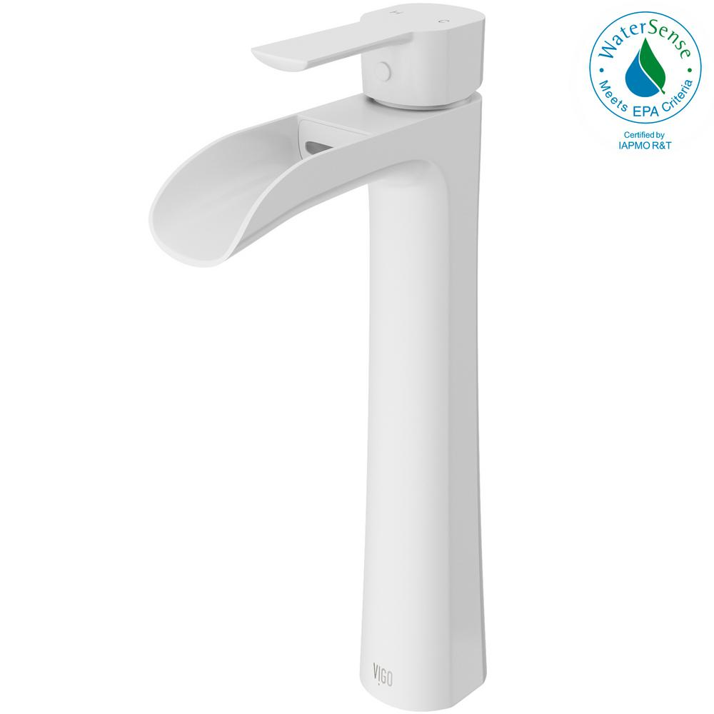 vigo bathroom faucets. VIGO Niko Single Hole Single-Handle Vessel Bathroom Faucet In Matte White Vigo Faucets 1