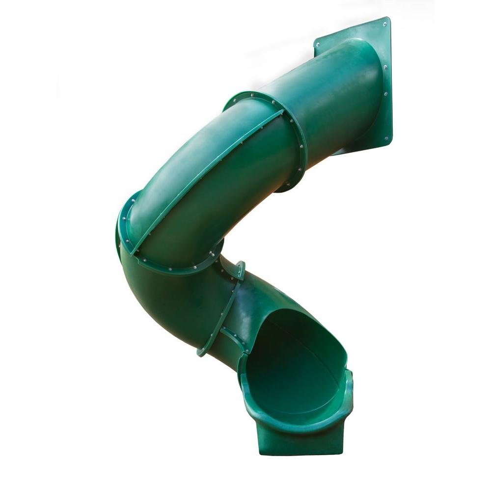 Gorilla Playsets Green Super Tube Slide 03 0001 G The