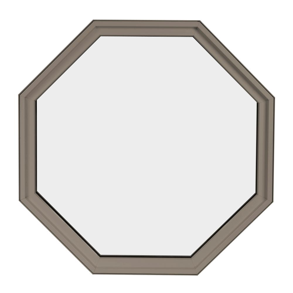 24 in. x 24 in. Octagon Sandstone 6-9/16 in. Jamb Geometric