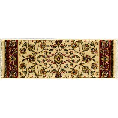 Sapphire Sarouk Ivory 9 in. x 26 in. Stair Tread Cover