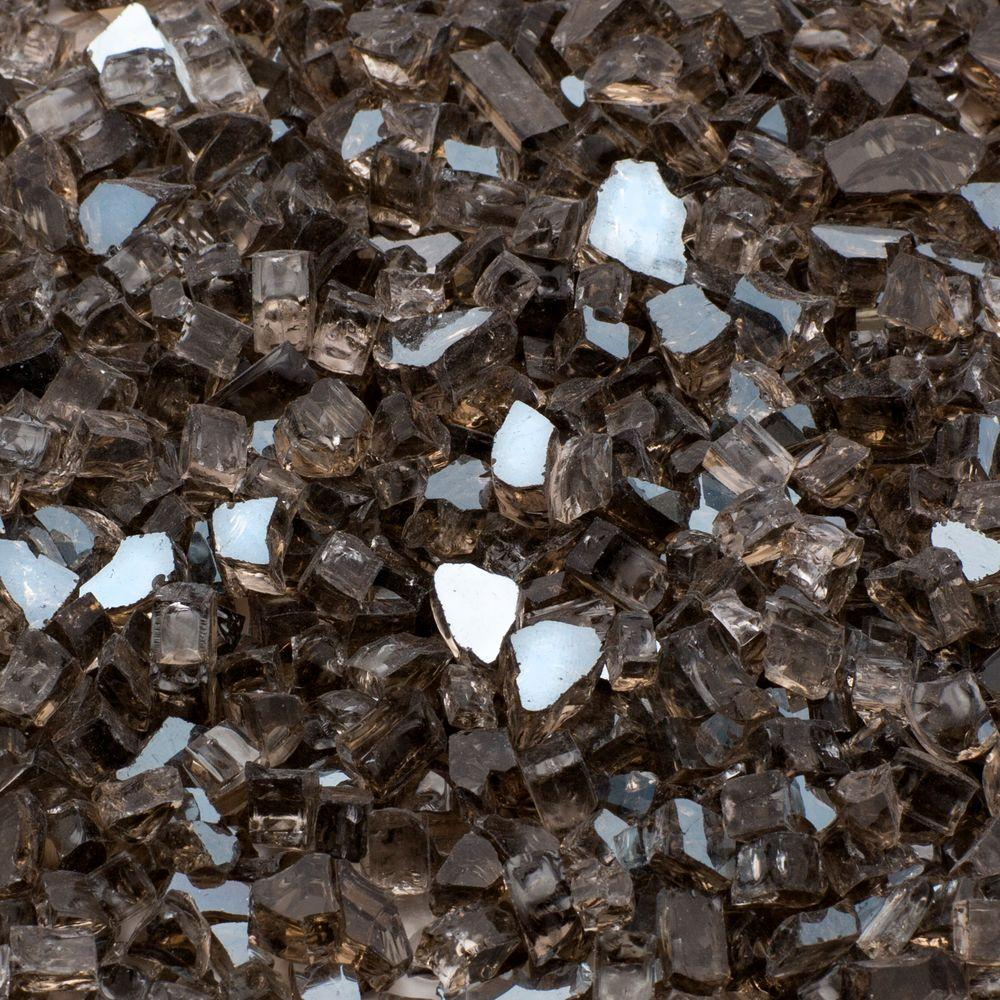 Margo Garden Products 1/4 in. 25 lb. Bronze Reflective Tempered Fire Glass