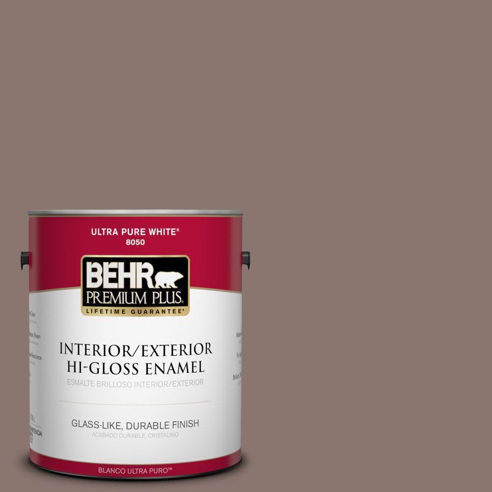 BEHR Premium Plus 1-gal. #PPF-41 Cedar Plank Hi-Gloss Enamel Interior/Exterior Paint