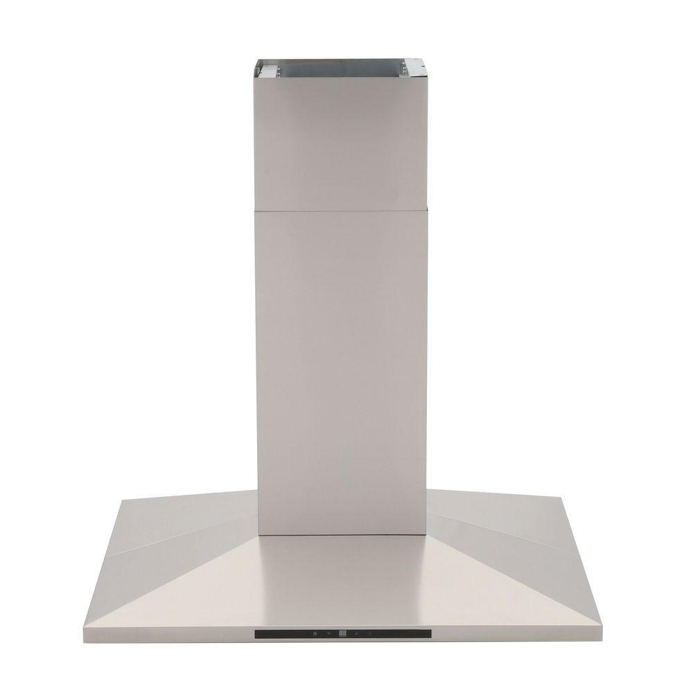 Yosemite Home Decor Contemporary Series 36 in. Island Range Hood in Stainless Steel