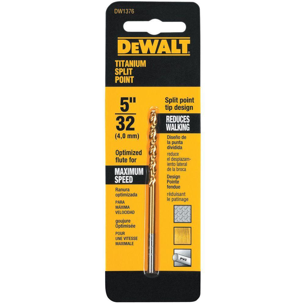DEWALT 5/32 in. Titanium Split Point Drill Bit