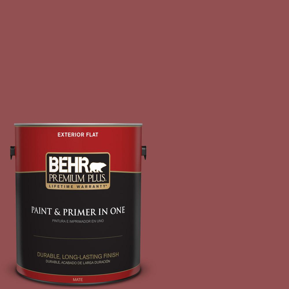1 gal. #PPU1-08 Pompeian Red Flat Exterior Paint