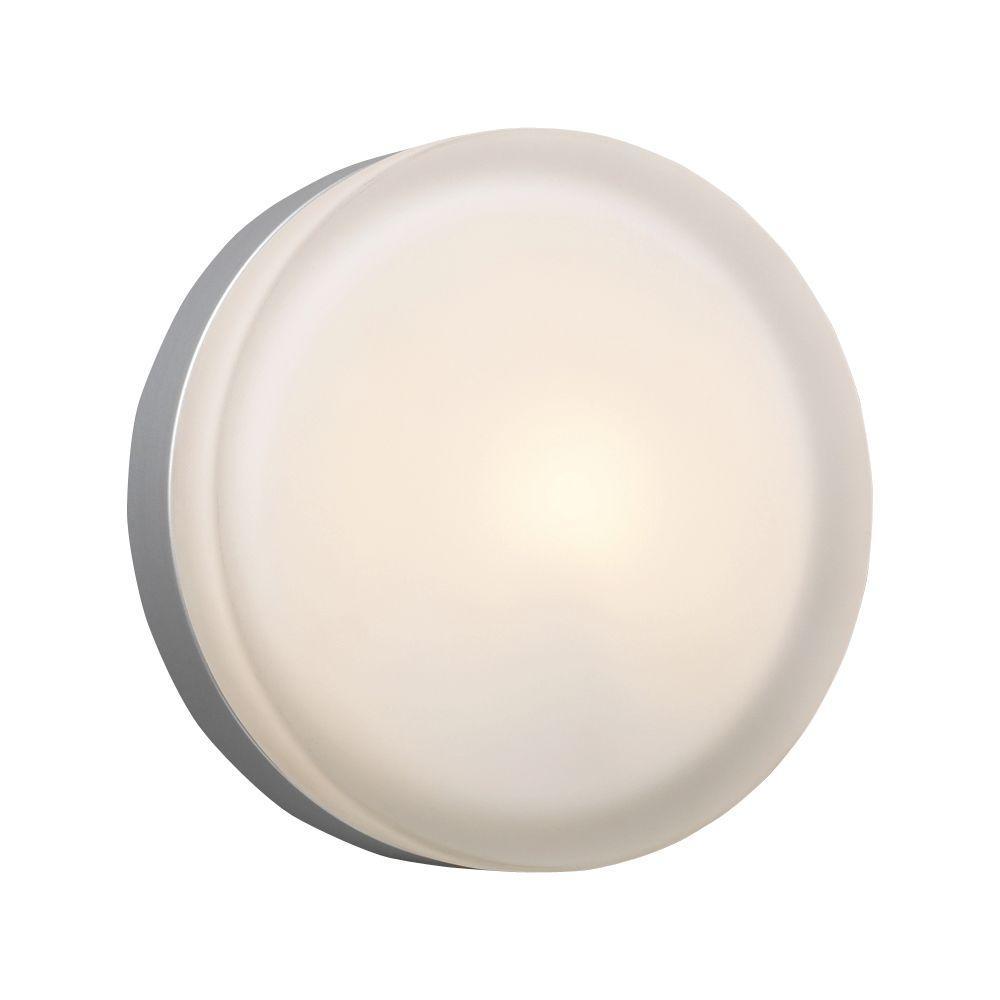 Illumine Contemporary Beauty 1-Light Satin Nickel Halogen Ceiling Flush Mount