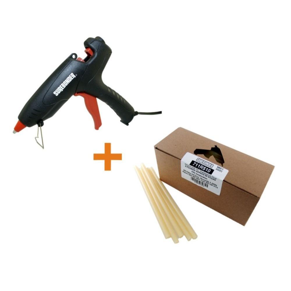 Surebonder 80-Watt All Purpose Full Size Glue Gun with 10 in  x 7/16 in   Dia Glue Sticks (5 lb  Bulk Pack)