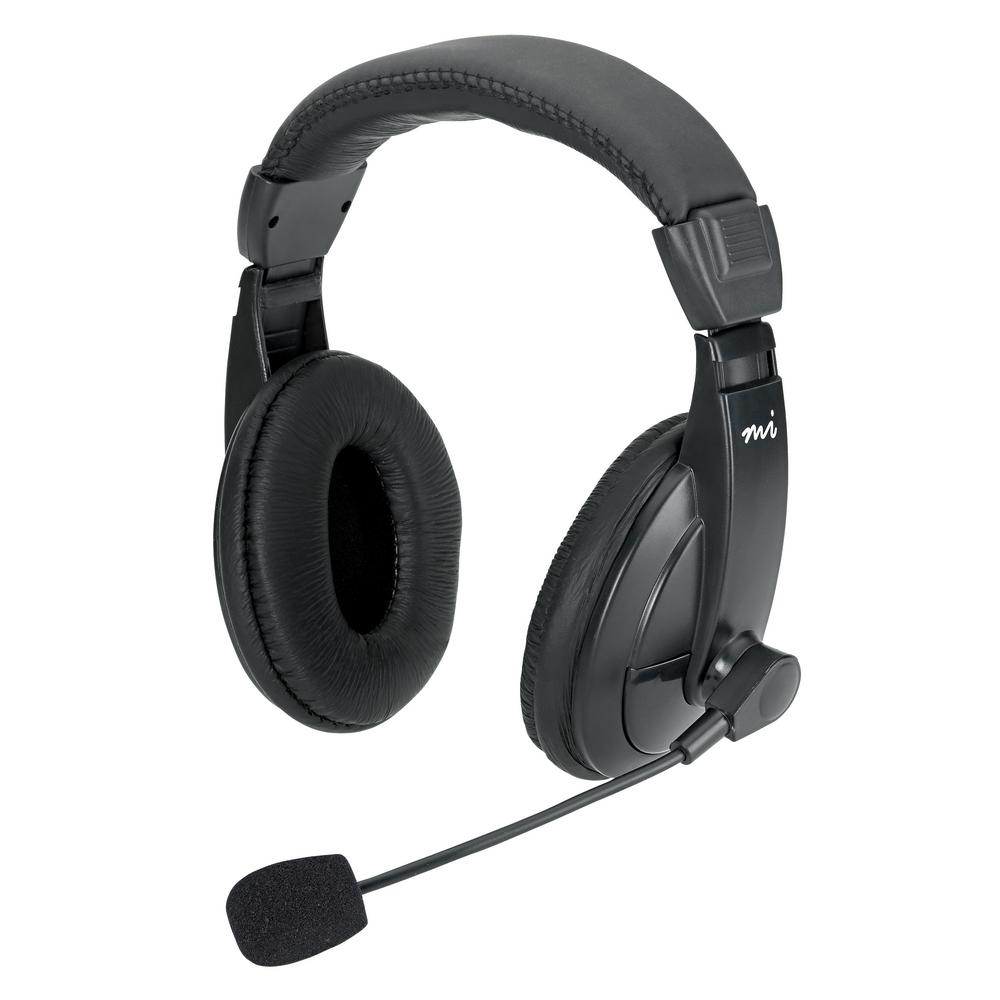 Full-Size Stereo Headset with Padded Ear Cups