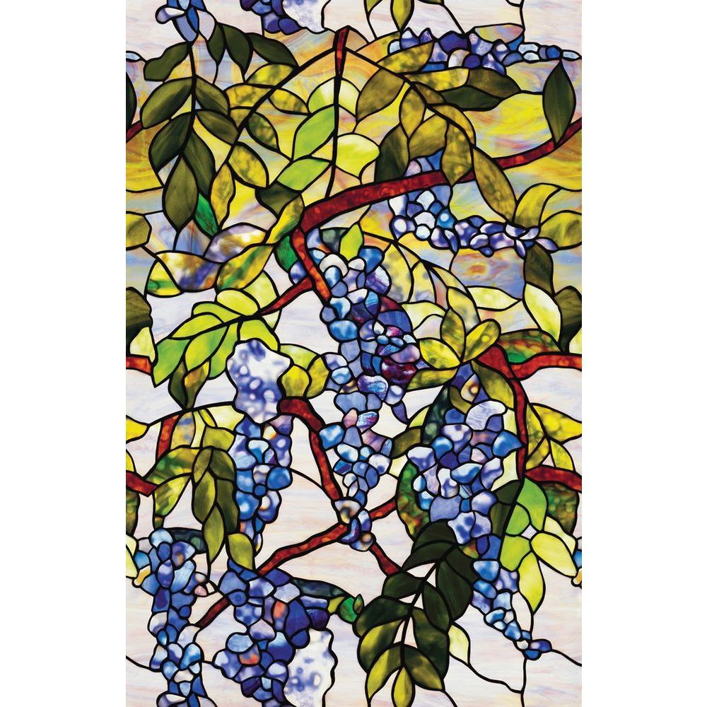 Artscape 24 In X 36 In Wisteria Decorative Window Film