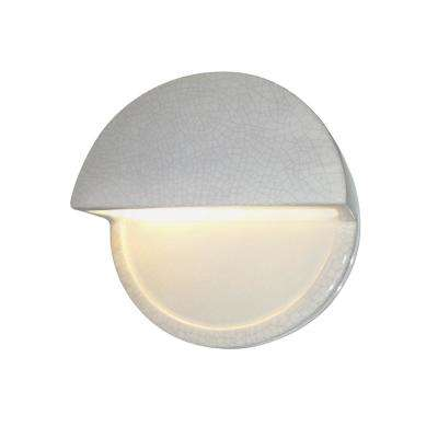 Ambiance Dome White Crackle Outdoor Integrated LED Sconce