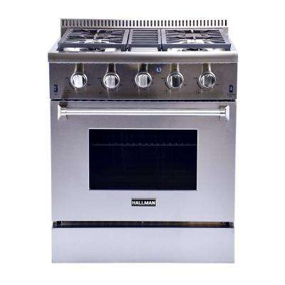 30 in. 4.2 cu. ft. Professional Convection Gas Range in Stainless Steel Liquid Propane