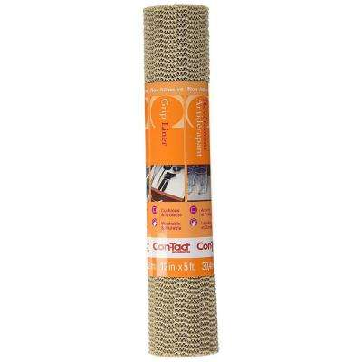 Grip Liner 12 in. x 5 ft. Taupe Non-Adhesive Grip Drawer and Shelf Liner (6-Rolls)